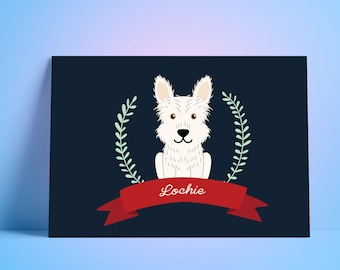 Custom Dog illustration Portrait - Digital