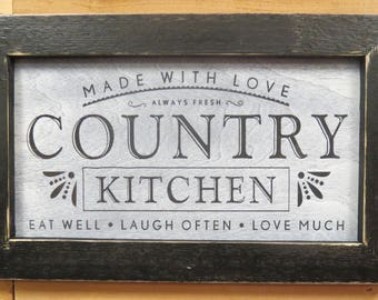 country kitchen signs country kitchen sign etsy 2890