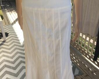 80's white skirt