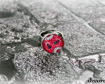 Adjustable LADYBUG ring