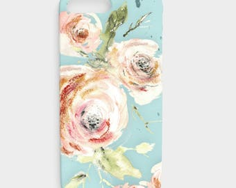iPhone SE Floral - Phone case iPhone 6 Plus,  Flower iPhone Case, Galaxy S7 plus case, Galaxy S7 floral case, Galaxy S6,  abstract flowers
