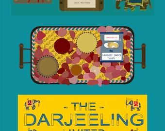 the darjeeling limited movie poster postcard 4'X6'