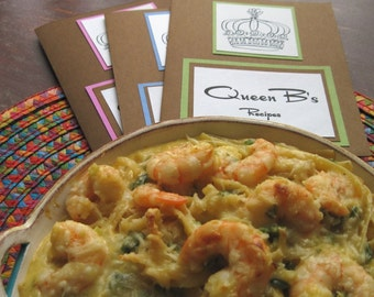 DIY Recipe for Seafood Fettuccini with Shrimp and Crabmeat in Queen B's Recipe Folder