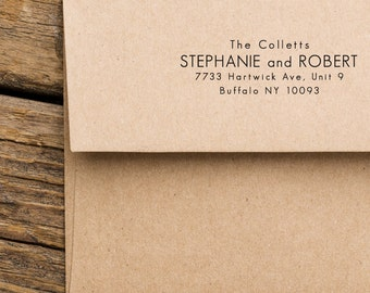 Address Stamp, Return Address Stamp, Address Stamp Modern , Housewarming Gift, Personalized Card Address Stamp (120)