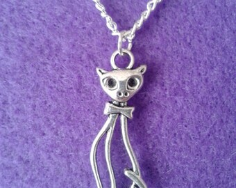 Cat Necklace * Tall Elegant * Kitten * Witch * Pet * Cute