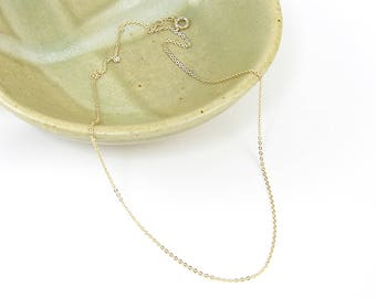 Gold Necklace Chain - 18 Inch Small Link Gold Plated Cable Chain |CH1-G18