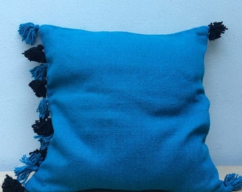 Pompon Wool Pillow Cover