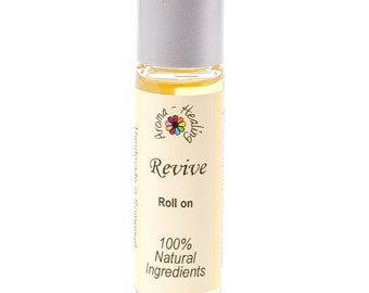 Roller Ball | REVIVE Aromatherapy Roll On | Essential Oil Blends | Natural relief | Bath and Beauty | Vegan