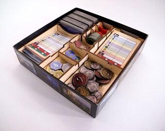 7 Wonders Duel Basic boardgame + Pantheon expansion, organizer, wood insert.