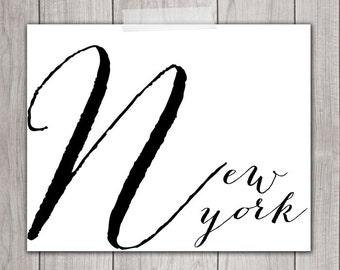 New York City Art - 8x10 New York Art Print, New York City Art, nyc art, New York Wall Art, nyc print, New York Typography
