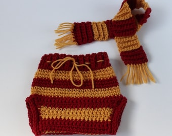 Gryffindor Harry Potter Inspired Diaper Cover, Harry Potter Baby Gift