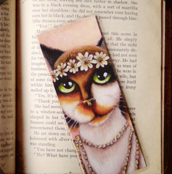 Daisy Buchanan Calico Cat Great Gatsby Bookmark