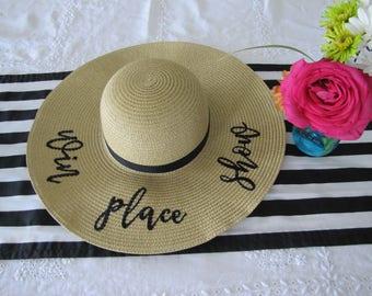 Win Place Show Derby Hat, Beach Hat, Floppy Hat, Ladies Sun Hat, Straw Hat, Girls Weekend Away