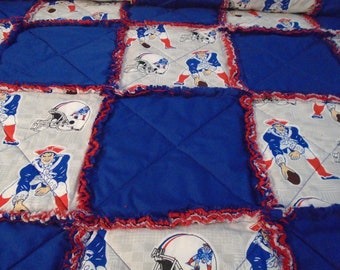 football quilted rag throw