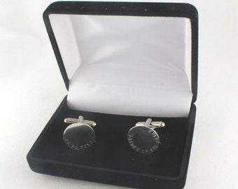 Cufflinks Box - Cuff Links Box - Men's Box - Cufflink Holder - Black Velvet Cufflinks Container - Gift Box