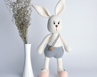 Kids Plush Toy Handmade Crochet Cotton Yarn Stuffed Animal Amigurumi Bunny