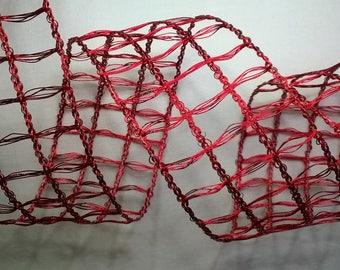 Red mesh Ribbon width 6.5 cm