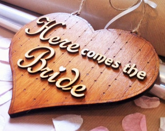 Here Comes The Bride Page-boy Flower-girl Sign