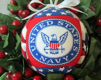 Navy, Christmas Ornament, Patriotic, Military Gift, Gift For Him, Gift For Her, Mothers Day, Red, White, and Blue Gift, Home Decor, Gift