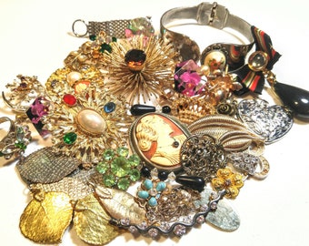 Vintage Repurpose DIY Craft Jewelry Lot