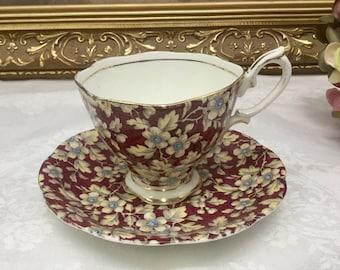 Royal Albert chintz teacup and saucer.