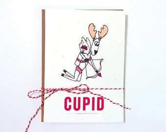 Funny Christmas Card/ Reindeer Cards/ Humorous Christmas Card/ Merry Christmas/ Funny X-Mas Cards/ Humor