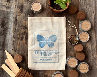 Butterfly Garden Seed Kit, Butterfly Garden, Seed Kit, Gift for Gardeners, Butterfly Garden Seeds, Garden Gift Set, Wildflower Seeds