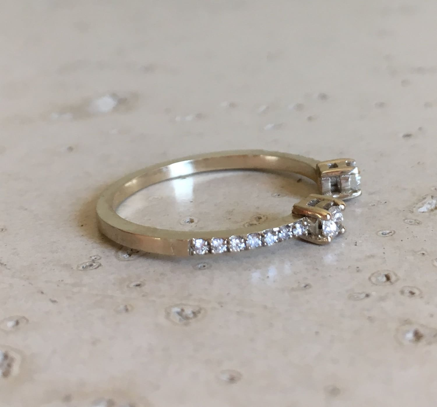 matching eternity pin single ring wedding band full floating diamond prong bubble bands