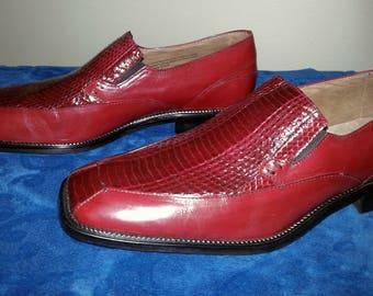 Vintage Stacy Adams Men's Snakeskin Loafers