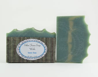 Seven Seas Soap - Handmade For Men - Fresh and Clean - Cold Process Soap - 4 Ounce Bar