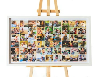 Collage Frame, Family and Friends Collage, Large Frame, Deluxe & Hand Made In Cornwall, Custom and Personalised, Up To 65 Inches