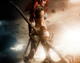 Red Sonja Signed A4 Print.