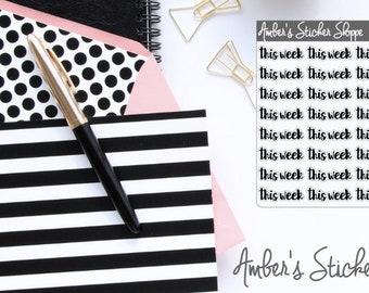 Cursive Lettering This Week Headers Labels Planner Stickers