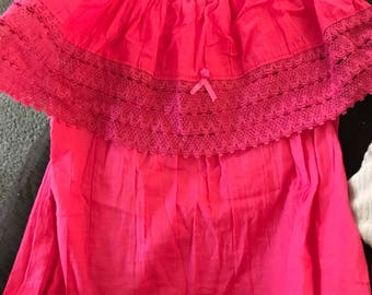 Magenta mexican blouse