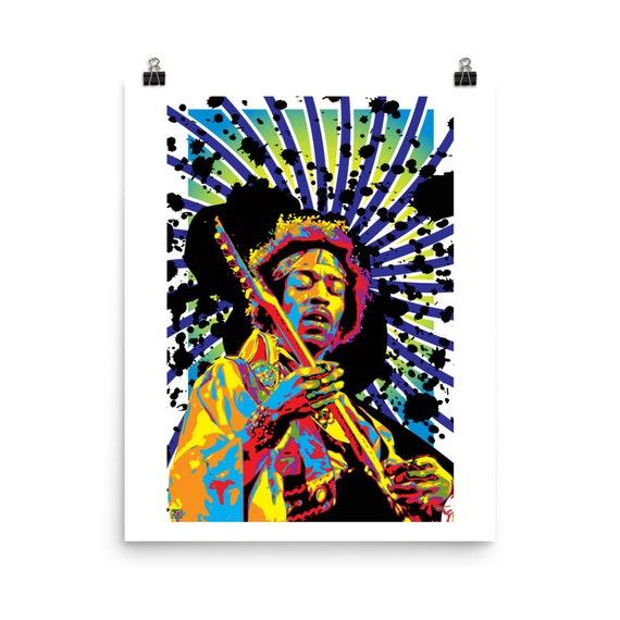 Purple Haze Jimi Hendrix Pop Art Prints
