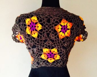 Bolero / Shrug orange flowers