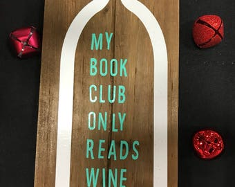 Small wine themed sign