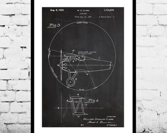 Airplane Decor, Airplane Art, Airplane Print, Aviation Decor, Airplane Patent, Aviation Art, Aviation Art, Pilot Gift