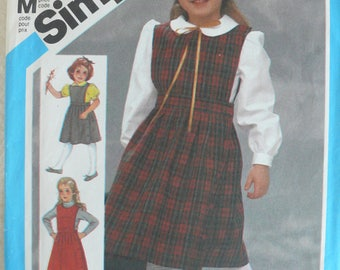 Girl's Jumper and Blouse Pattern- Vintage Simplicity 6557 - Size 5