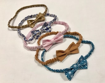 Babies and girls with cute bow headbands