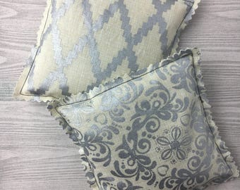 """Kozy Komfort """"Moscato"""" Style Rice Heating Pad, Hand Warmer, Ice and Hot Pack, w/Metallic Geometric and Flower Pattern"""