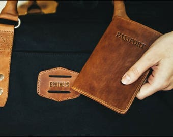 Leather Passport Cover // Leather Passport Holder // Leather Travel Wallet