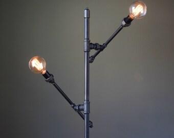 Floor Lamp Industrial   Articulating Lamp   Edison Floor Light   Modern Floor  Lamp   Sofa