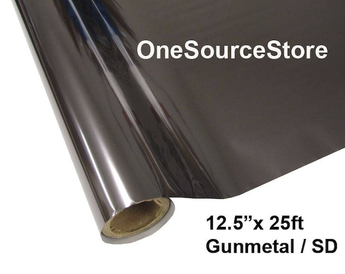 "HTV Textile Foil* / 12.5 ""x 25 ft / Gunmetal / SD"