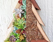 DIY Christmas Tree Succulent Vertical Planter Wall or Table Decor