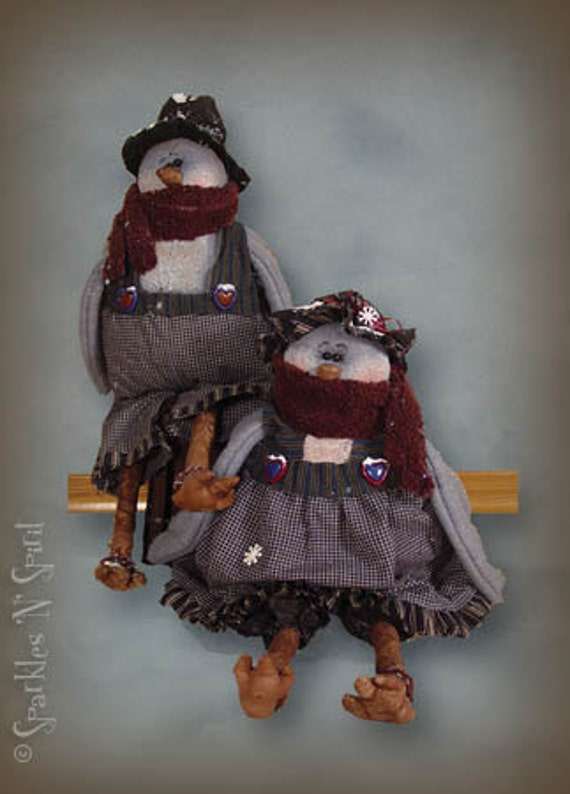 "Pattern: Betty and Blu Birt - 14"" Winter Birds- Set of 2 Patterns"