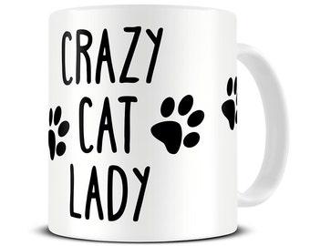 Crazy Cat Lady Coffee Mug - cat mug - cat lover gift - MG334
