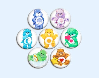 Care Bears - pinback badge buttons or magnets 1.5""