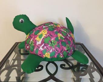 Barney Handmade Stuffed Turtle