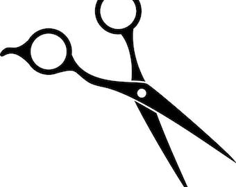 hair salon accessories barber scissors stylish barbershop rh etsy com hair cutting scissors clip art free free clipart hair scissors